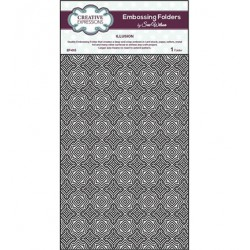 (EF-015)Embossing folder A4 Illusion
