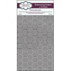 (EF-019)Embossing folder A4 Honeycomb Haven