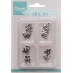 (JU0927)Marianne Design Charms animal theme