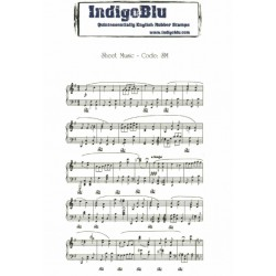 (SM)IndigoBlu Sheet Music Mounted A6 Rubber Stamp