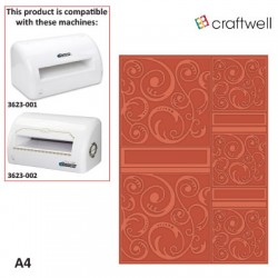 (EF-SWT-028A)Embossing folder A4 Swirltangle