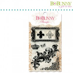 (10105757)Bo Bunny clear stamp 10x15,3cm flourishes such