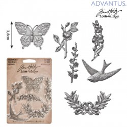 (TH93128)Tim Holtz adornments nature