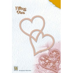 (QD002)Nellie's Filling Dies two hearts