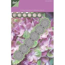 (1201/0084)Lin & Lene stencil flower 10 leaves round