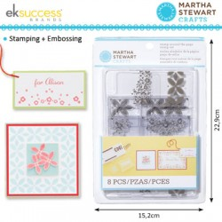 (24037)Martha Stewart stamp set around the page bandana geo flow