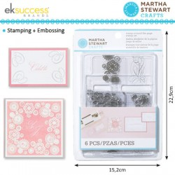 (24038)Martha Stewart stamp set around the page calligraphy doil