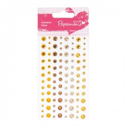 (PMA-351414)Adhesive stones - 104pcs - sunshine