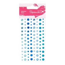 (PMA-351416)Adhesive stones - 104pcs - blue