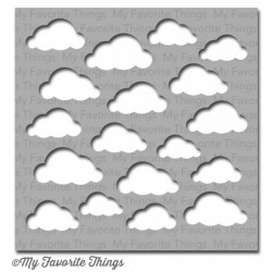 (ST-44)My Favorite Things Stencils Cloudy Day
