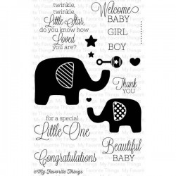 (LJD-37)My Favorite Things Beautiful Baby Clear Stamps