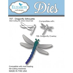 (SKU707)Steel Cutting Die Dragonfly Silhouette