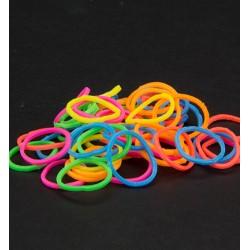 (6200/0845)Band It 600 rubberbands Neon Mix