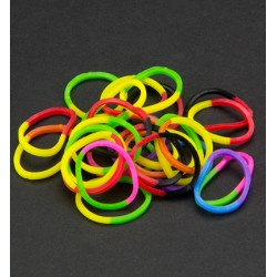 (6200/0844)Band It 600 rubberbands 2 colors mix