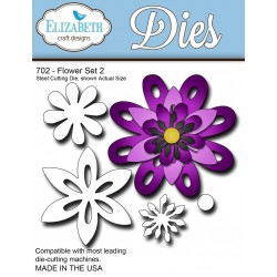(SKU702)Steel Cutting Die Flower Set 2