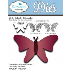 (SKU704)Steel Cutting Die Butterfly Silhouette