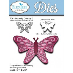 (SKU706)Steel Cutting Die Butterfly Overlay 2