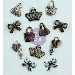 (910587)Metal embellishments 12p