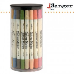 (TDMk39082)Tim Holtz distress marker x49 assortie in tube