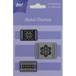 (6350/0101)Metal charms for Ribbon (3pcs)