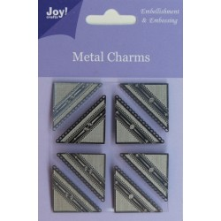 (6350/0105)Metal Charms Corners (8 pcs)
