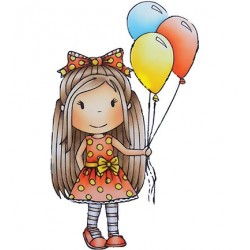 (PND2385)Paper Nest Dolls Birthday Balloon Ellie