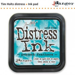 (TIM34933)Distress Ink Pad pad peacock feathers