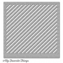 (ST-51)My Favorite Things Stencils Diagonal Stripes