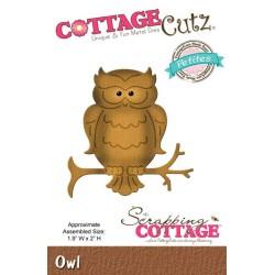 (CCP-021)Scrapping Cottage CottageCutz Owl (Petites)