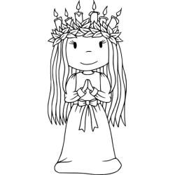 (PND70030)Paper Nest Dolls Christmas Bella/St Lucia