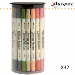 (TDMk34315)Tim Holtz distress marker x37 assortie in tube