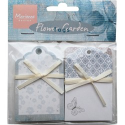 (JU0928)Marianne Design Flower garden (tags)