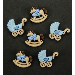 (6380/0506)Band-it - rocking horse - blue prams