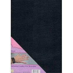 (ILFB001)Nellie`s Choice A4 imitation leather sheet black