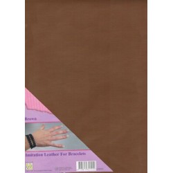 (ILFB002)Nellie`s Choice A4 imitation leather sheet brown