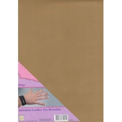 (ILFB003)Nellie`s Choice A4 imitation leather sheet beige