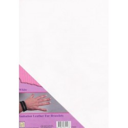 (ILFB004)Nellie`s Choice A4 imitation leather sheet white