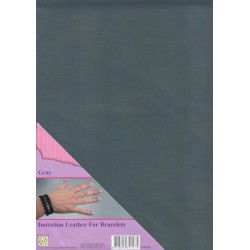 (ILFB005)Nellie`s Choice A4 imitation leather sheet gray