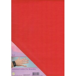 (ILFB006)Nellie`s Choice A4 imitation leather sheet red