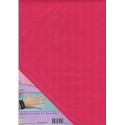 (ILFB007)Nellie`s Choice A4 imitation leather sheet pink