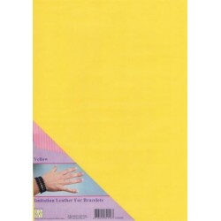 (ILFB008)Nellie`s Choice A4 imitation leather sheet yellow