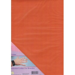 (ILFB009)Nellie`s Choice A4 imitation leather sheet orange
