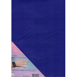 (ILFB010)Nellie`s Choice A4 imitation leather sheet cobalt