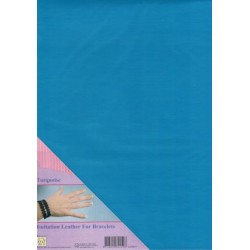 (ILFB011)Nellie`s Choice A4 imitation leather sheet turquoise