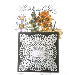 (JR1402)Julie Roces Flowers and Lace Series No 2