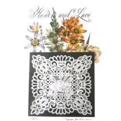 (JR1402)Julie Roces Flowers and Lace Series No 2