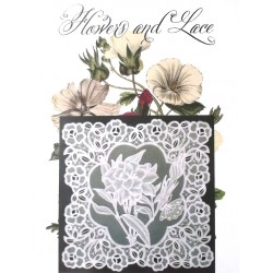 (JR1405)Julie Roces Flowers and Lace Series No 5