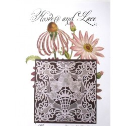 (JR1406)Julie Roces Flowers and Lace Series No 6