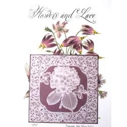(JR1407)Julie Roces Flowers and Lace Series No 7