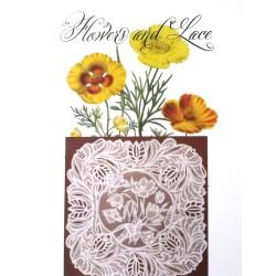 (JR1409)Julie Roces Flowers and Lace Series No 9